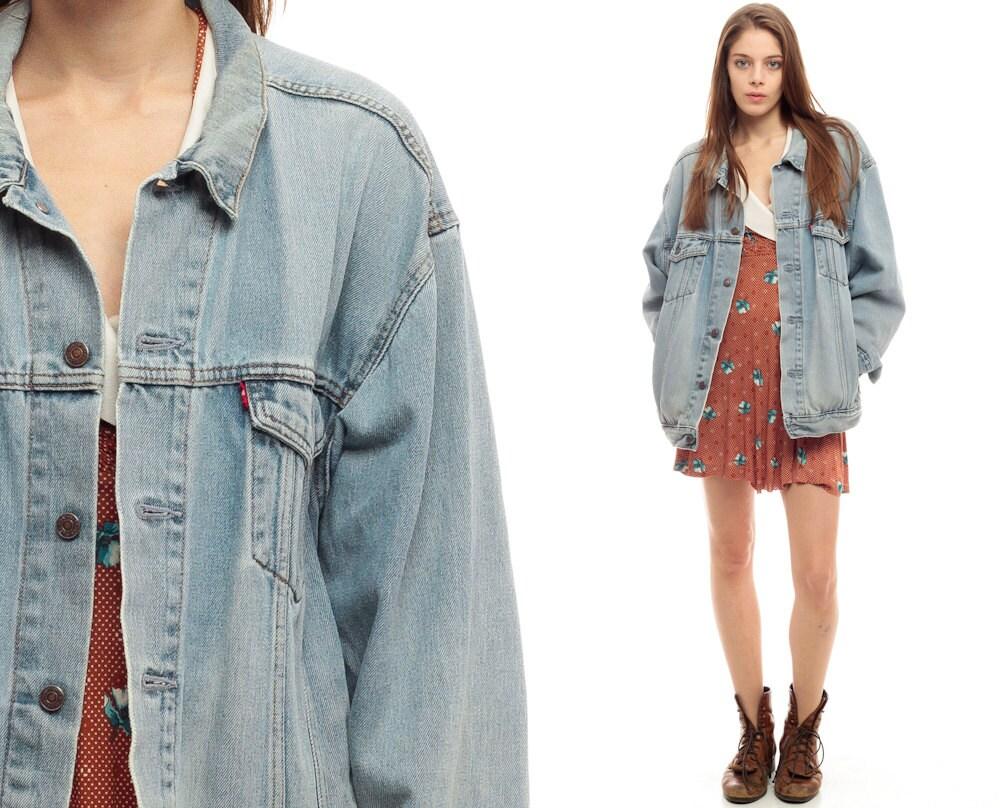 levis giacca di jeans giacca 80s jean sbiadito angosciata levi