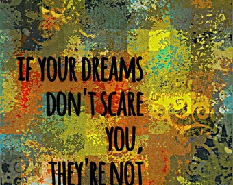 Wall Decor Art Print Dream Big 8x10 on heavy cardstock