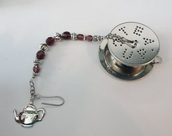 Tea Infuser, beaded teacup