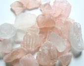 Beach Decor Sea Glass - Nautical Decor Beach Glass in Pink Mix -  2 POUNDS