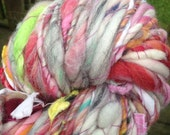 RESERVED RESERVED Art Yarn 6.5 oz 77 yd BIG skein handspun, homespun, multicolor, super soft, extra bulky, rainbow of color