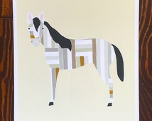 Horse Art Print, Barnyard Horse Print, Farm Horse Print, Kids Artwork, Horse Nursery Art, Horse Illustration, Gingiber Horse Print