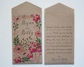 Kraft Seed Packet Garden Party Wedding Favors - Many Colors Available