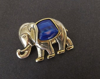 Vintage Brooch, Necklace Pendant, Elephant Jewelry, Elephant Brooch, Vintage Accessories, Costume Jewelry Jewelry Accessories