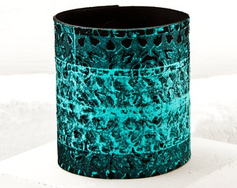 Boho Turquoise Leather Cuff Bracelets For Women - Gypsy Chic Jewelry - Any Occasion