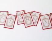 Wishes Mini Banner Wedding or Bridal Shower Bird Nest Bunting Garland Photo Prop