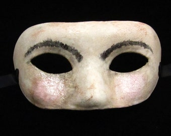 Sir Porcelain Mask, faux porcelain paper mache masquerade mask