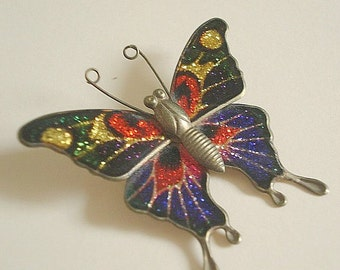 Butterfly Pin Vintage Monarch Butterfly Brooch Vintage Jewelry