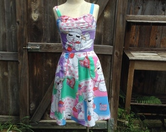 Handmade Lambchop Dress Size 4 Recycled
