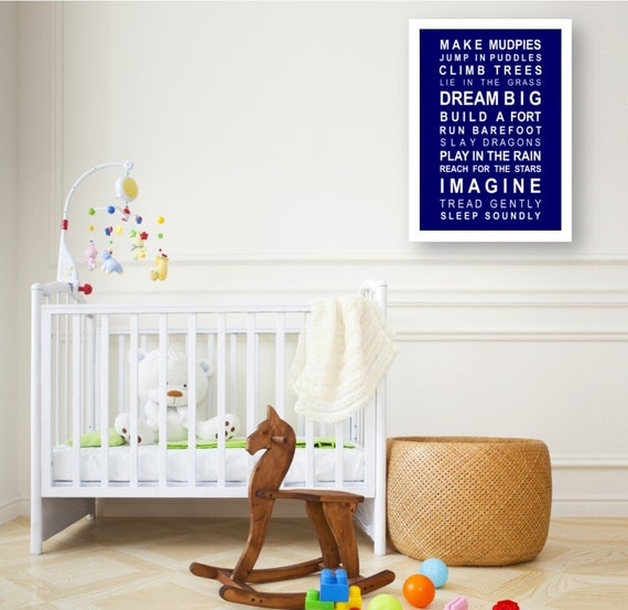Typography print subway wall art Dreams for your boy - A2 large size