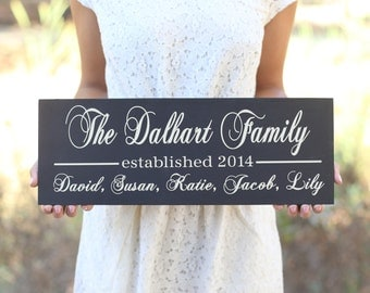 Personalized Family Sign Wedding Christmas Holiday Bridal Shower Gift (Item Number MMHDSR10066)
