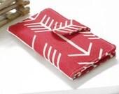 Arrow Wallet, Clutch Wallet, Womens Clutch Wallet ,Handmade Fabric Wallet, Womens Bifold Wallet