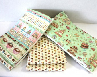 6 Piece Burp Cloth Set Gender Neutral Boy or Girl Gerber Diapers Cupcake Burps Baby Shower Gift Set