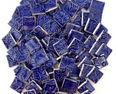 "Mosaic Tiles -  100 Royal Blue 3/4"" Squares"