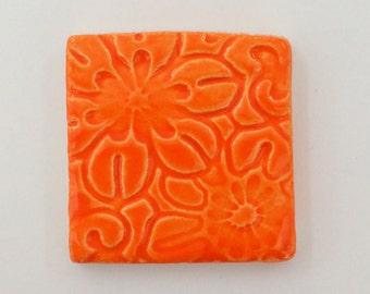 ORANGE FLOWER Tile