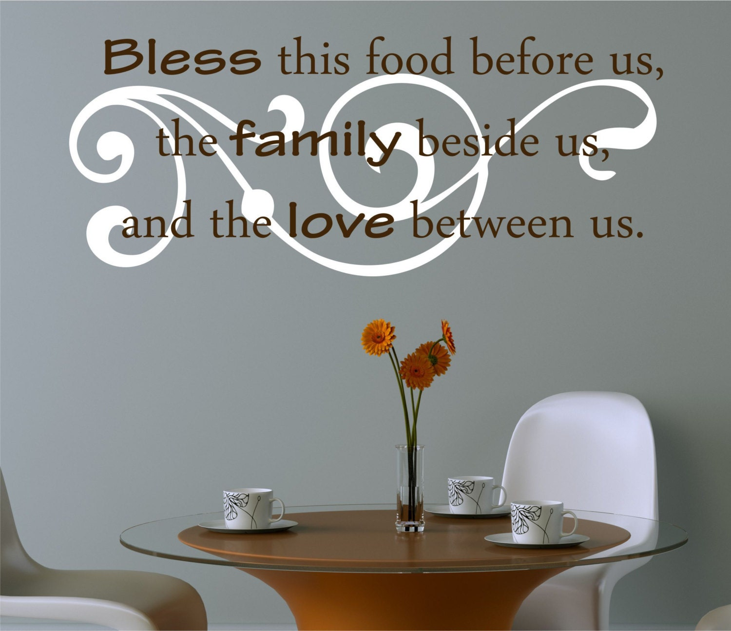 Kitchen Decals Bless The Food Before Us Wall Decal Kitchen