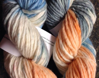 Super Bulky 1ply Handpainted yarn - Down the Shore
