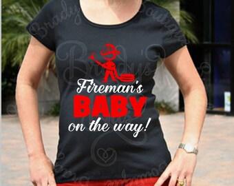 Fireman Maternity Shirt - Fireman's Baby on the Way