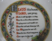 House warming Bless this house plaque