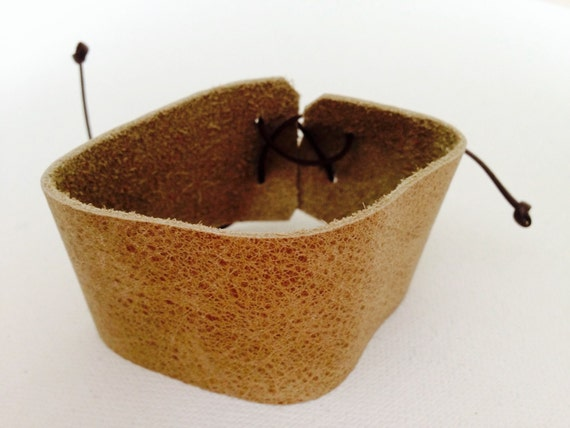 Brown Leather Donna Cuff