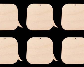 Call Out Box Shapes  Natural Craft Wood Cutout 1751