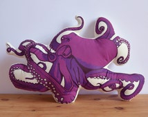 Plush Octopus Pillow