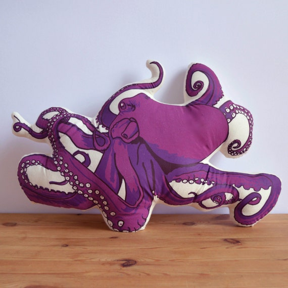 Silkscreen Octopus Pillow