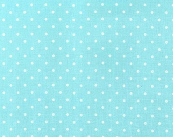 Aqua Pinhead from Michael Miller Fabrics - 1 Yard - By the Yard - Blue - Turquoise - Pin Dots - CX5514-AQUA-D