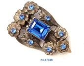 FREE SHIP Magnificent Art Deco Cobalt Blue Fur Clip (4-4704)