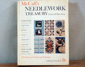 Vintage Book, McCall's Needlework Treasury, 1964