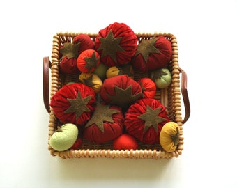 Heirloom Tomatoes Recycled Fabric Play Food Set
