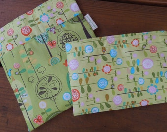 Reusable sandwich and/or snack bag - Reusable sandwich bag - Reusable snack bag  - Happier trees and blossoms