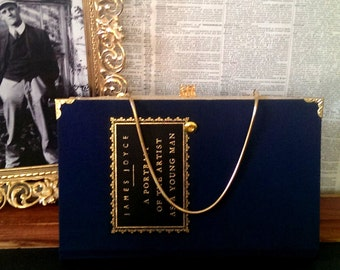 Book Clutch A Portrait of the Artist As A Young Man by James Joyce Literary Book Purse Made to Order