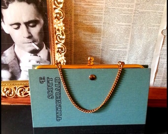 Book Clutch The Great Gatsby by F. Scott Fitzgerald Literary Book Clutch Made to Order