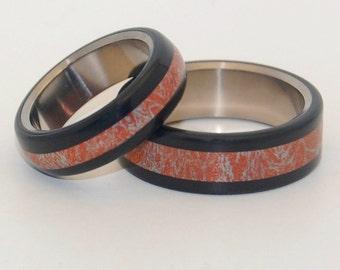 wedding rings, titanium rings, wood rings, mens rings, Titanium Wedding Bands, Eco-Friendly Wedding Rings, Wedding Rings - AKITA WARRIOR