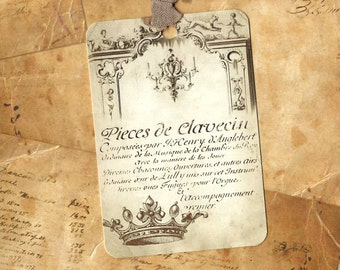 Tags, French Style, Crown, French Crown Tags, Gift Tags