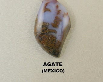 Moss Agate Freeform Designer Cabochon for Jewelry Artisans.