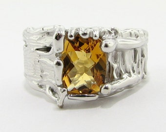 SALE!*** Tree Trunk Ring, Citrine ***
