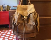 The great outdoors, awesome distressed leather back pack rucksack