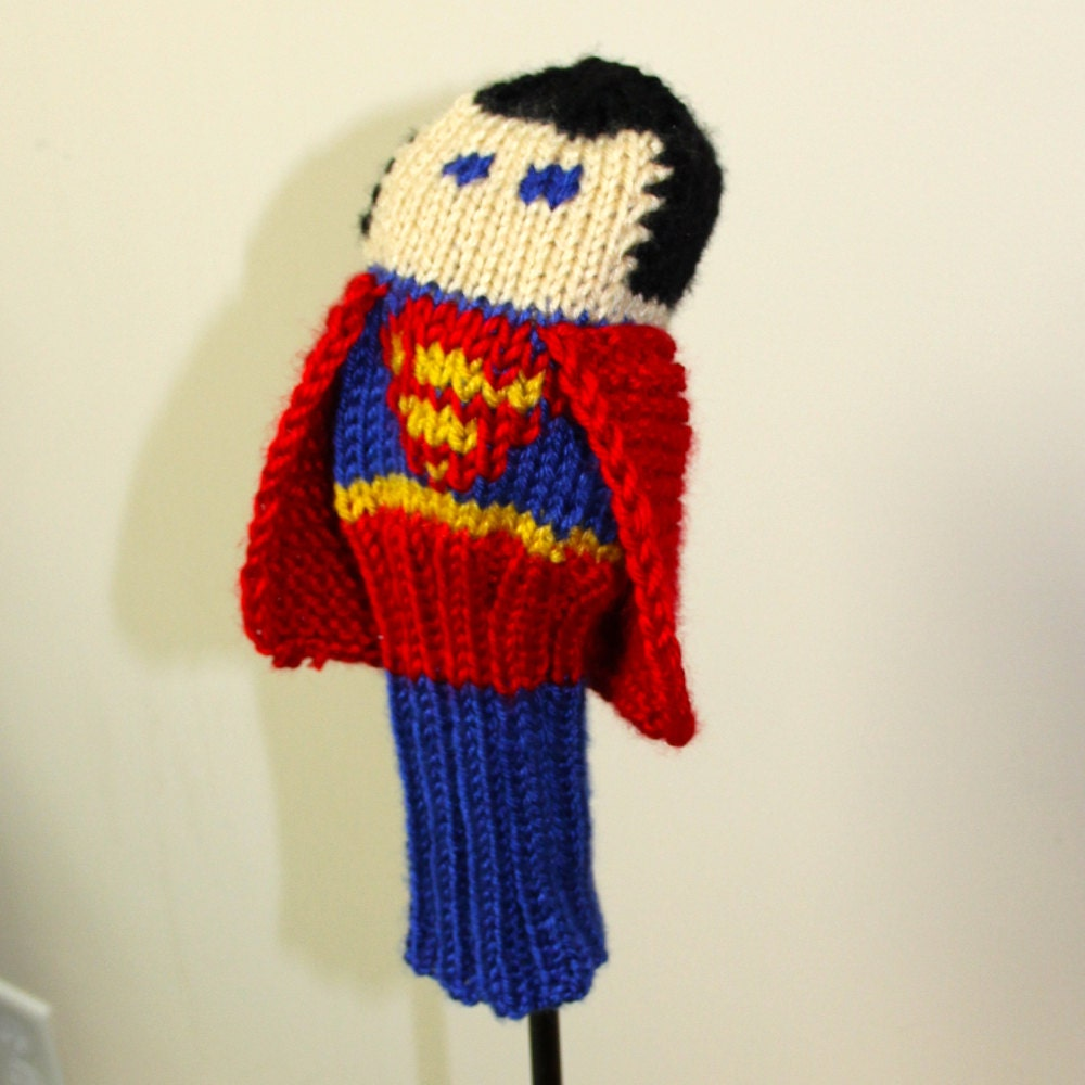 Knit PATTERN Superman Golf Club Cover PDF from TraceyKnits on Etsy ...