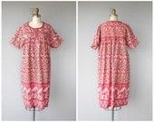 Vintage Caftan | Indian Cotton Caftan | Bohemian Dress | Festival Dress | Vintage Tent Dress | Gauze Cotton Smock Dress