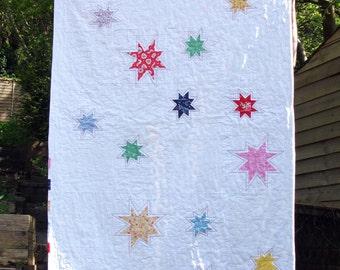 Modern patchwork quilt - lap quilt - baby quilt - throw quilt