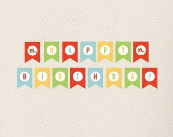 Happy Birthday Banner, PRINTABLE
