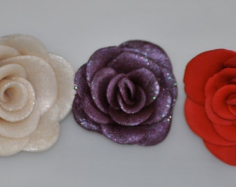 Handmade Rose Buttons - OOAK - 1 Button