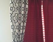 Black and White Curtains Quatrefoil Curtain Panels Lattice Modern Trellis Drapery Window Treatments Set Pair Home Decor
