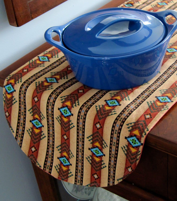 southwestern table runner 36 inch reversible brown and. Black Bedroom Furniture Sets. Home Design Ideas