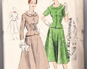 Vintage 1954 Vogue 8269 Sewing Pattern Misses' Suit Size 14 Bust 32