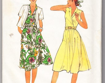 Classic 1980s Butterick 3792 Sewing Pattern Misses' Jacket and Dress Size 12 Bust 34