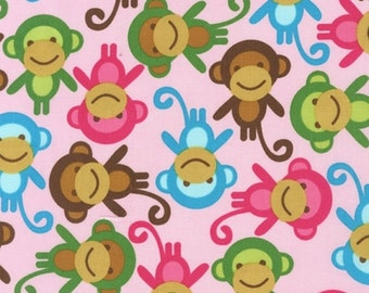 You Choose Changing Pad Cover or Crib Sheet- Ships in 3 Days- Spring Monkey