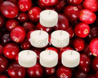 CRANBERRY RELISH Soy Tea Light Candles